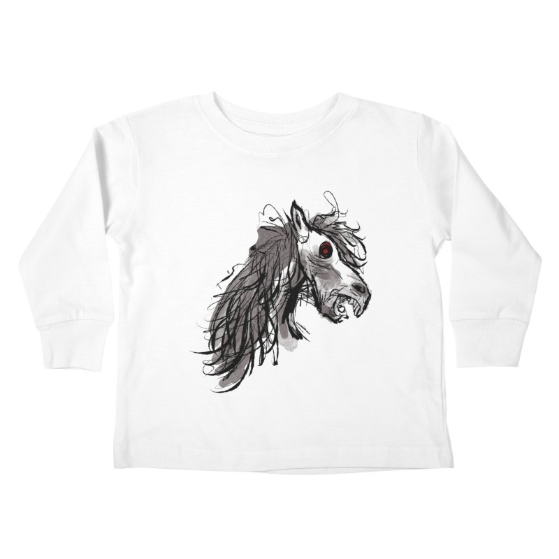 horse Kids Toddler Longsleeve T-Shirt by Maat Haas: The Shop