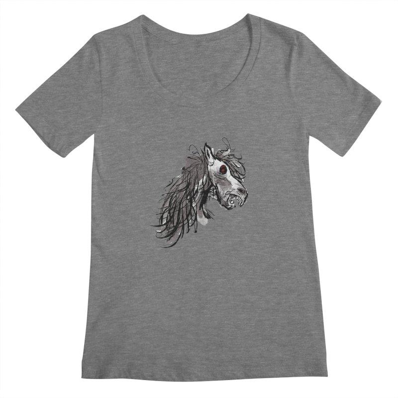 horse Women's Scoopneck by Maat Haas: The Shop
