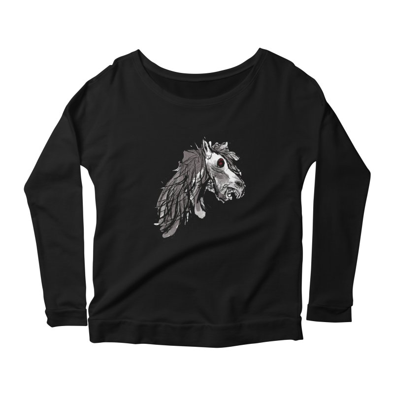 horse Women's Longsleeve Scoopneck  by Maat Haas: The Shop