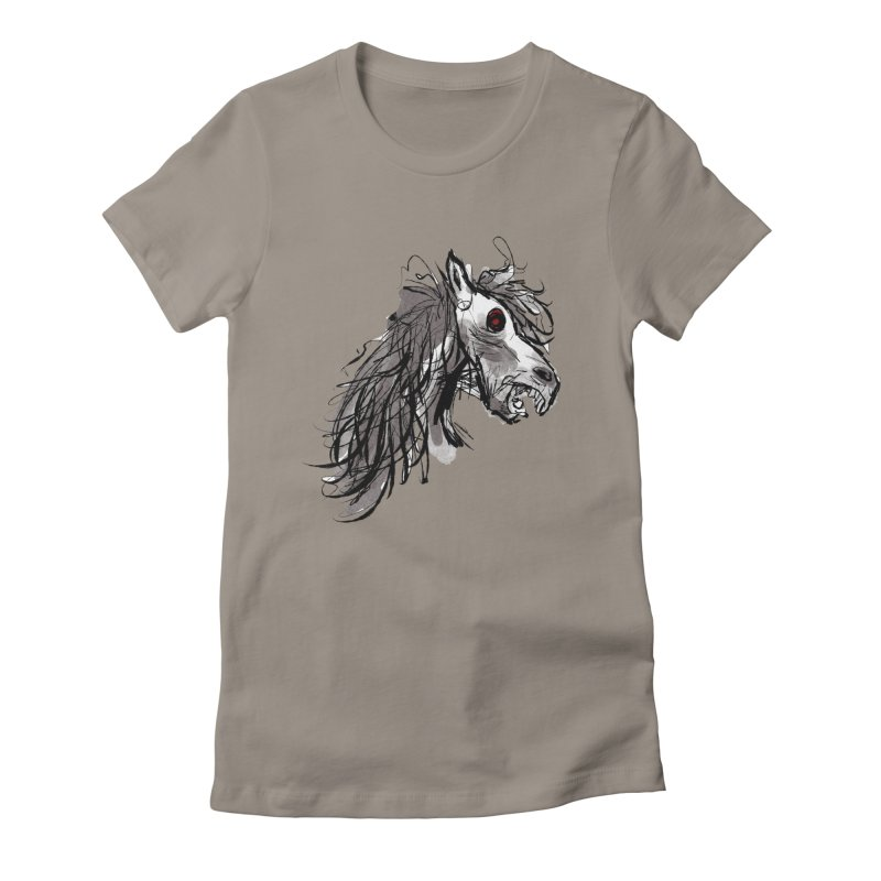 horse Women's Fitted T-Shirt by Maat Haas: The Shop