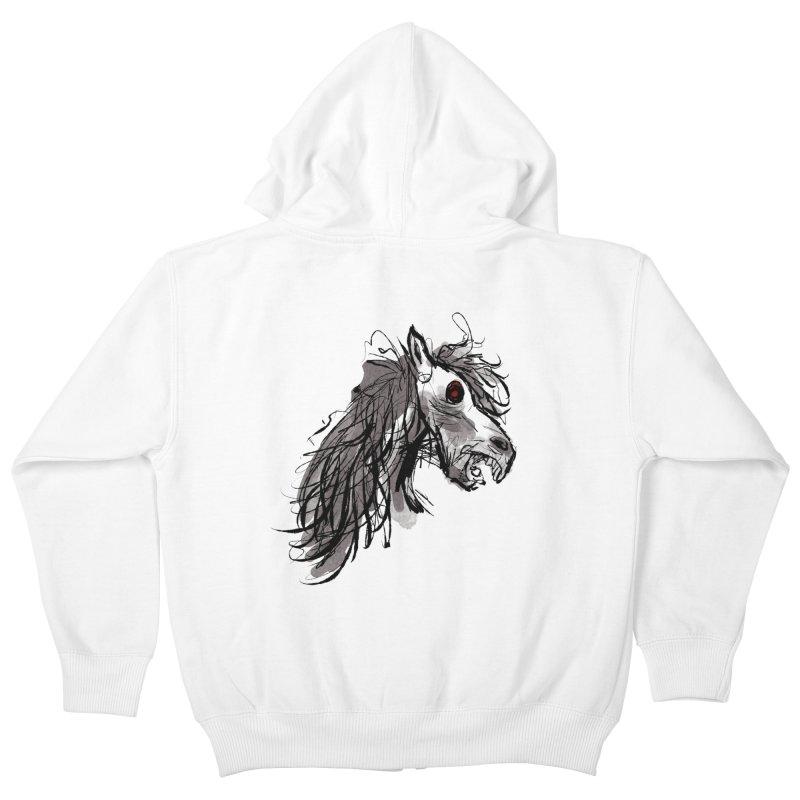 horse Kids Zip-Up Hoody by Maat Haas: The Shop