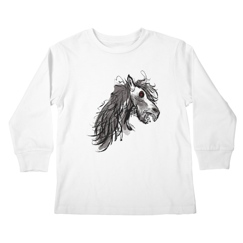 horse Kids Longsleeve T-Shirt by Maat Haas: The Shop