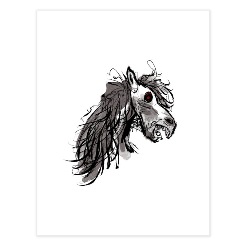 horse Home Fine Art Print by Maat Haas: The Shop