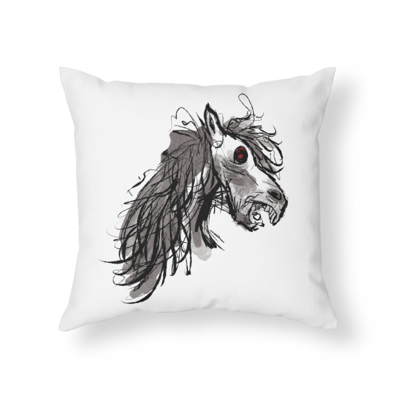 horse Home Throw Pillow by Maat Haas: The Shop