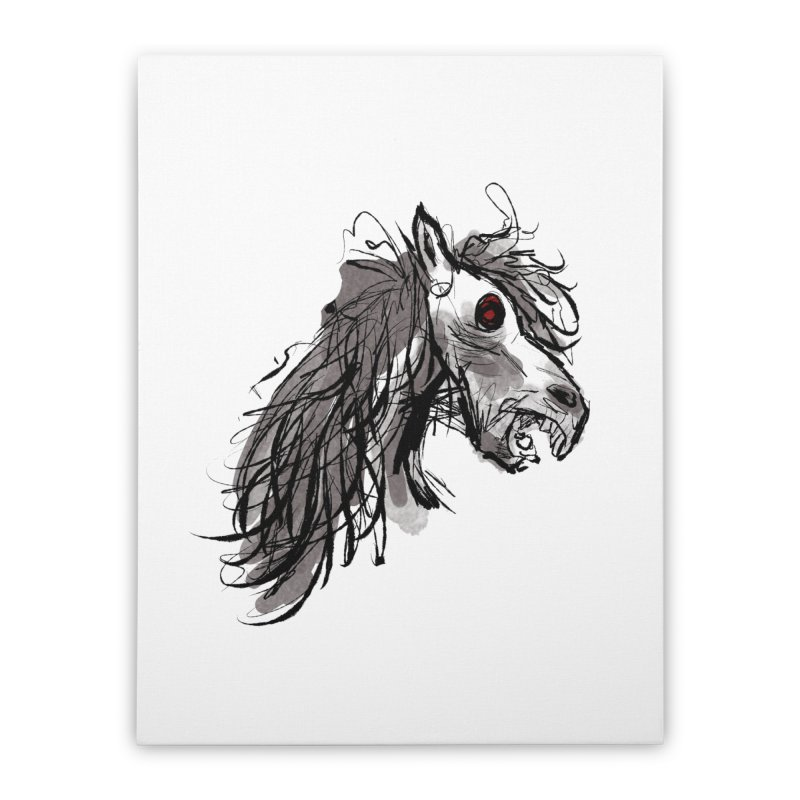 horse Home Stretched Canvas by Maat Haas: The Shop