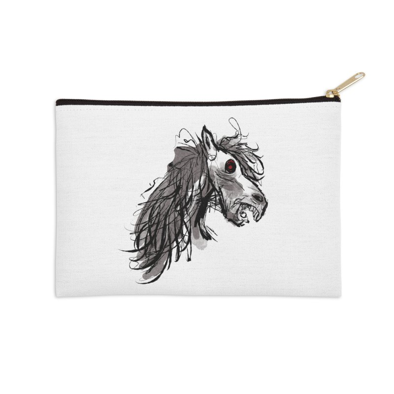 horse Accessories Zip Pouch by Maat Haas: The Shop