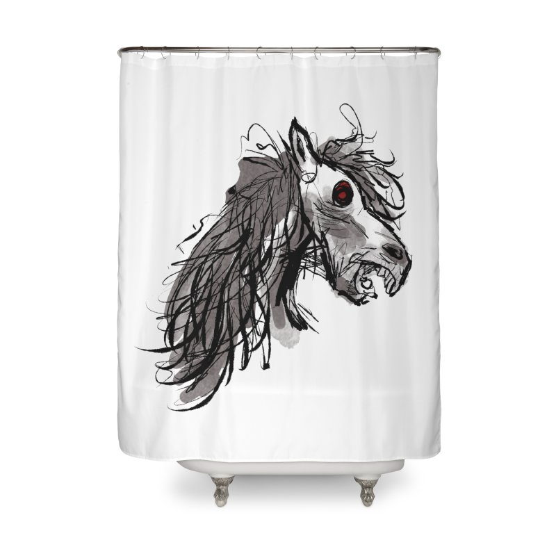 horse Home Shower Curtain by Maat Haas: The Shop