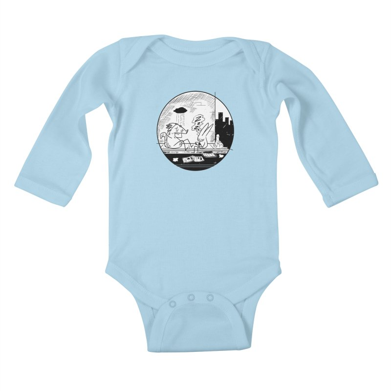 big city nights, big stupid dreams Kids Baby Longsleeve Bodysuit by Maat Haas: The Shop
