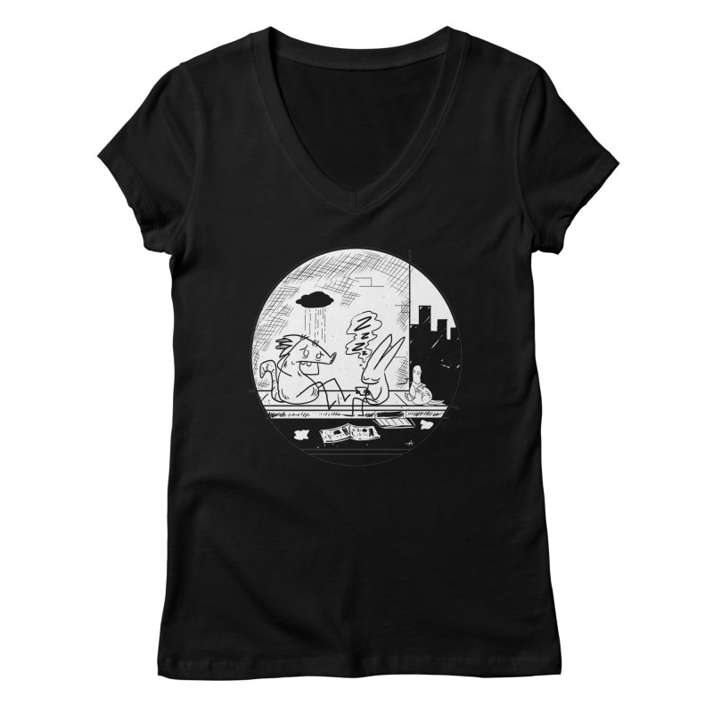 big city nights, big stupid dreams Women's V-Neck by Maat Haas: The Shop