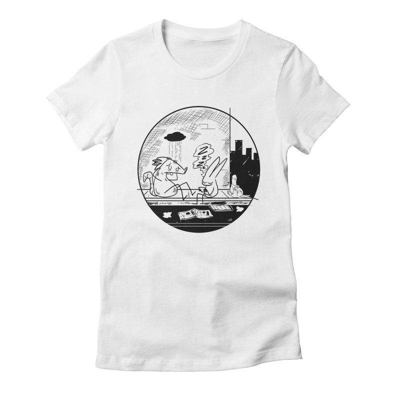 big city nights, big stupid dreams Women's Fitted T-Shirt by Maat Haas: The Shop