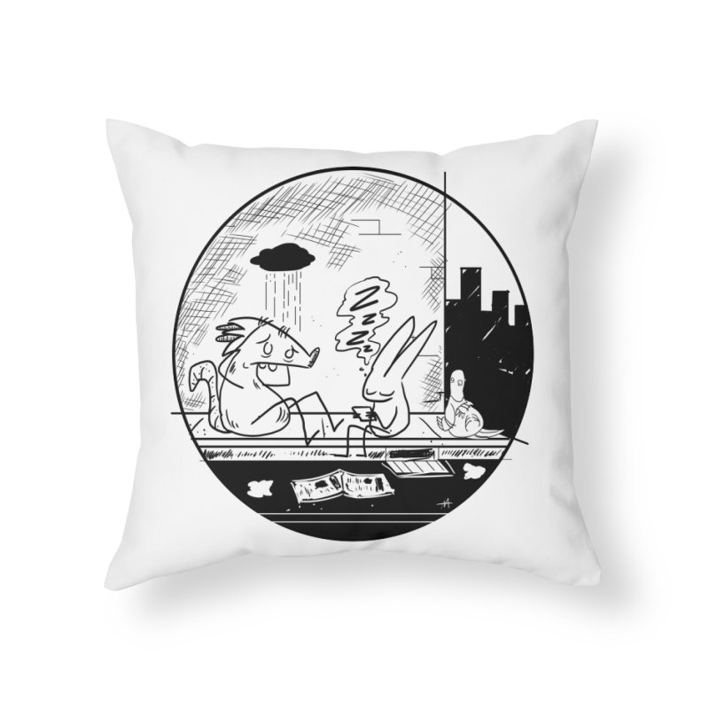 big city nights, big stupid dreams Home Throw Pillow by Maat Haas: The Shop