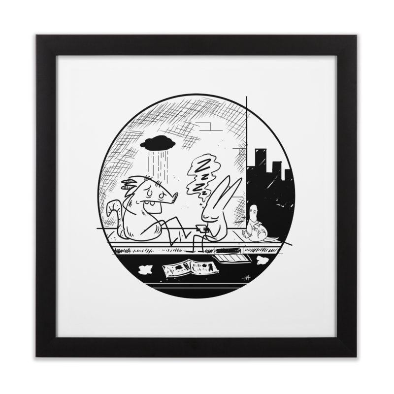 big city nights, big stupid dreams Home Framed Fine Art Print by Maat Haas: The Shop