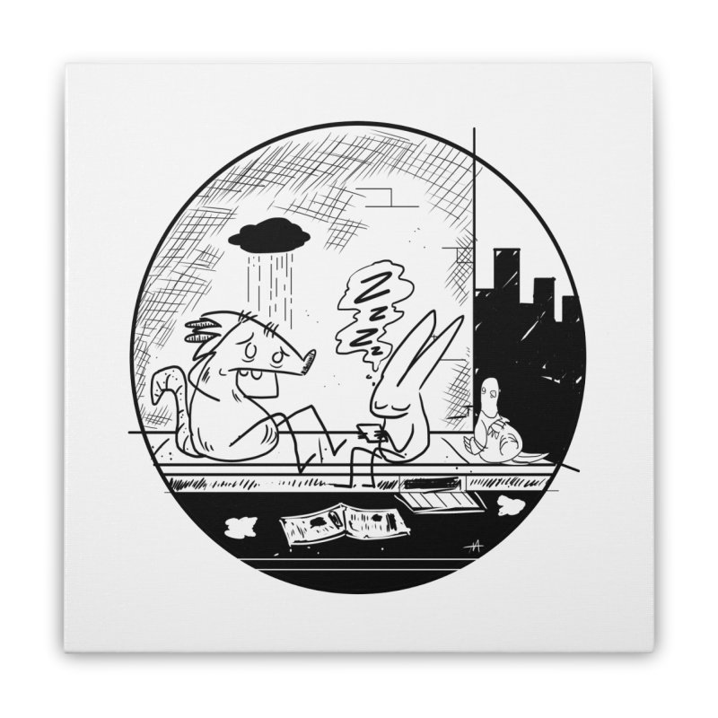 big city nights, big stupid dreams Home Stretched Canvas by Maat Haas: The Shop