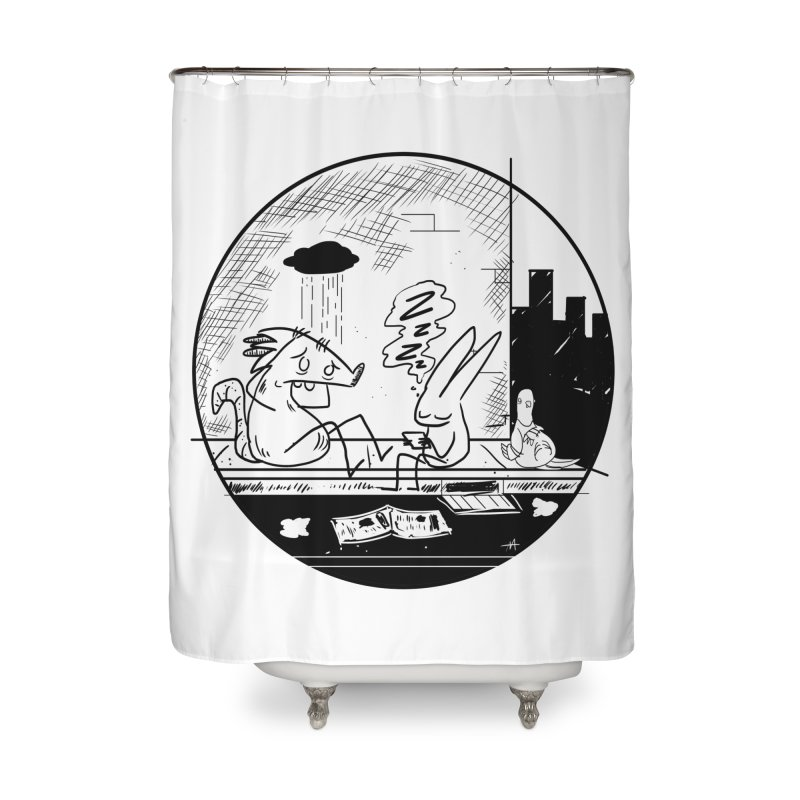 big city nights, big stupid dreams Home Shower Curtain by Maat Haas: The Shop