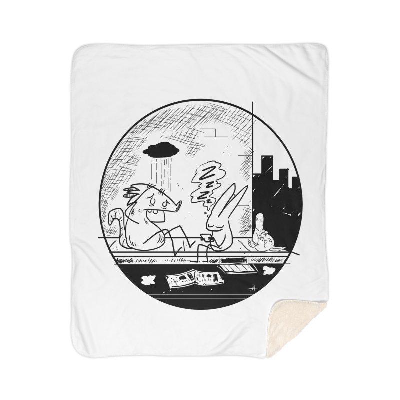 big city nights, big stupid dreams Home Sherpa Blanket Blanket by Maat Haas: The Shop