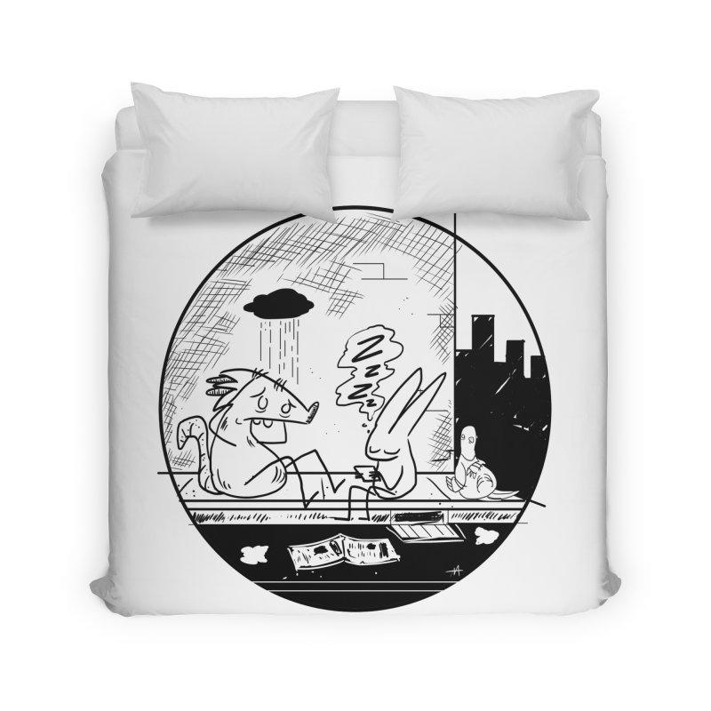big city nights, big stupid dreams Home Duvet by Maat Haas: The Shop