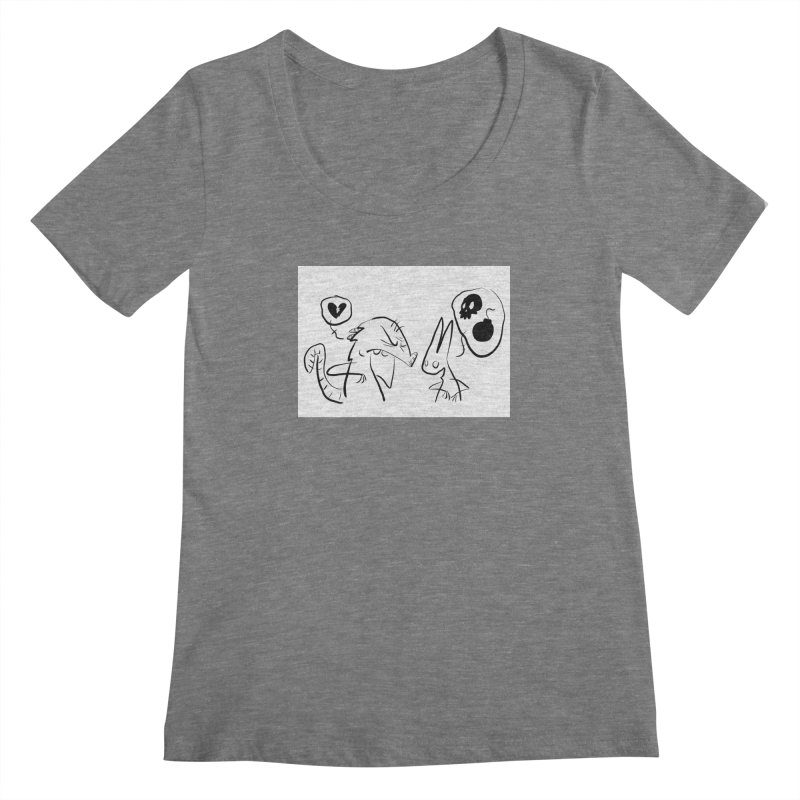 this world is only gonna break your heart Women's Scoopneck by Maat Haas: The Shop