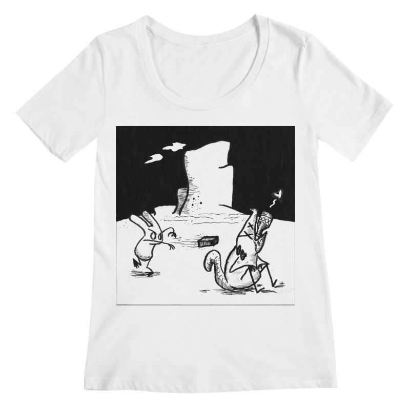 you are only the sum of your influences Women's Scoopneck by Maat Haas: The Shop