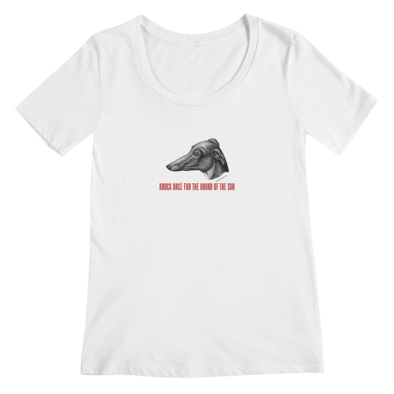 Hound of the Sun Women's Regular Scoop Neck by mabelpodcast's Artist Shop
