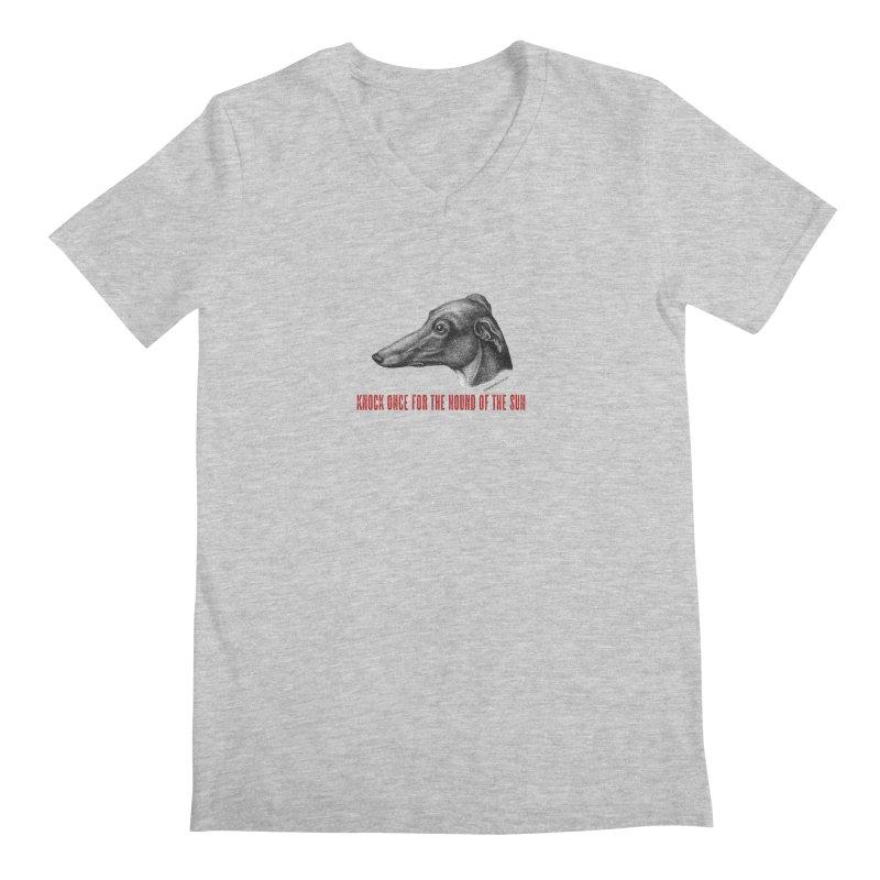 Hound of the Sun Men's Regular V-Neck by mabelpodcast's Artist Shop