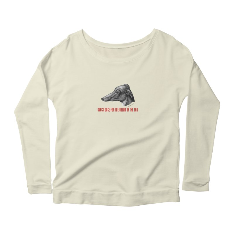 Hound of the Sun Women's Scoop Neck Longsleeve T-Shirt by mabelpodcast's Artist Shop