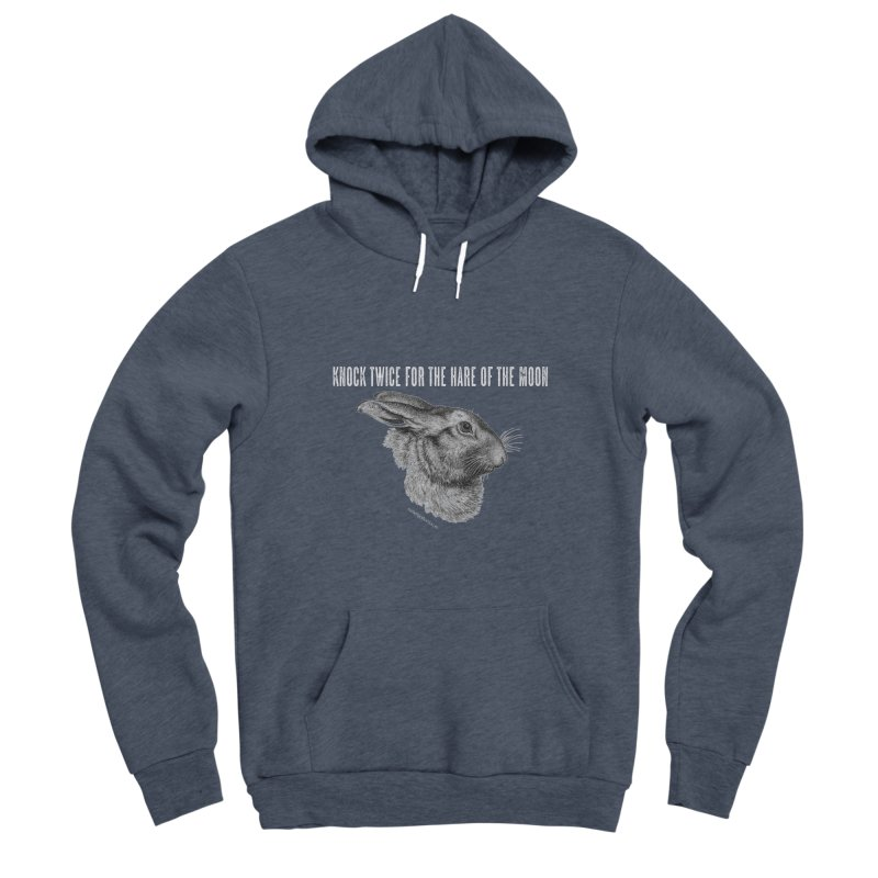 Hare of the Moon (colours) Women's Sponge Fleece Pullover Hoody by mabelpodcast's Artist Shop