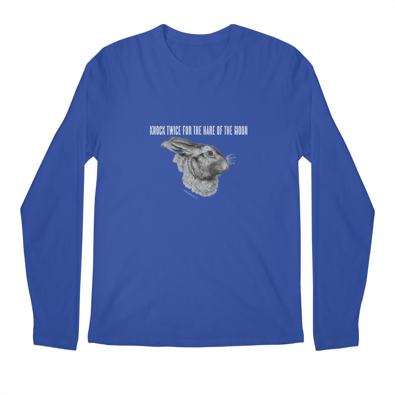 Hare of the Moon (colours) Men's Regular Longsleeve T-Shirt by mabelpodcast's Artist Shop