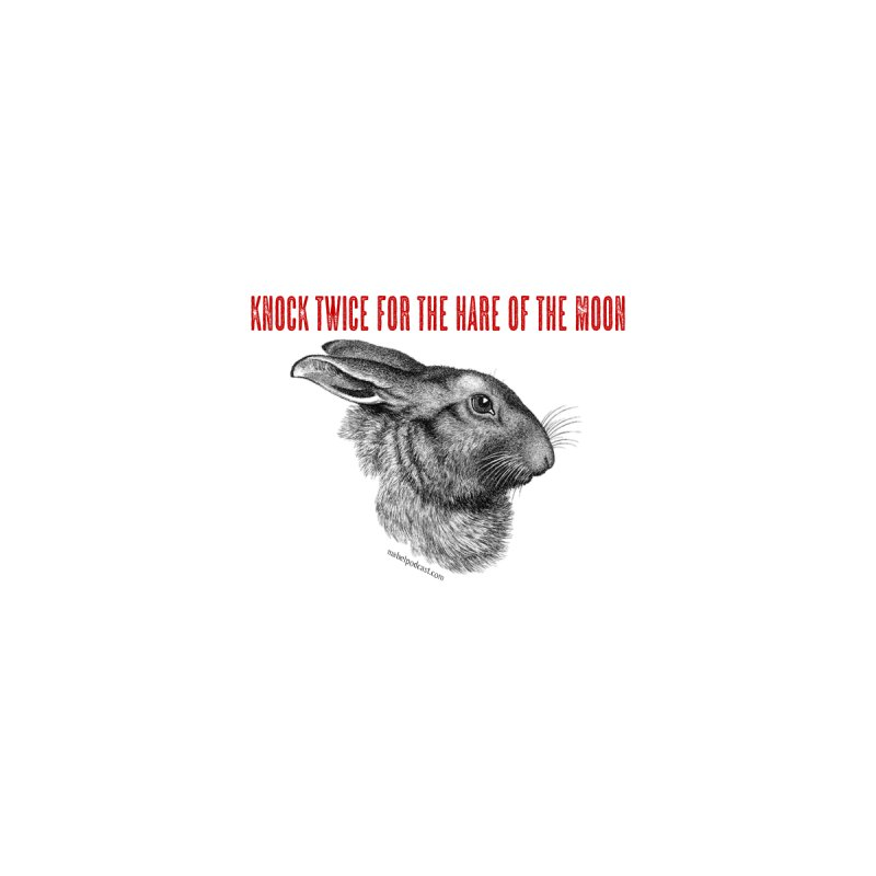 Hare of the Moon (white)   by mabelpodcast's Artist Shop