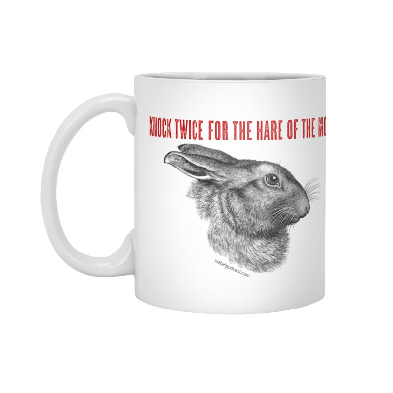 Hare of the Moon (white) Accessories Standard Mug by mabelpodcast's Artist Shop