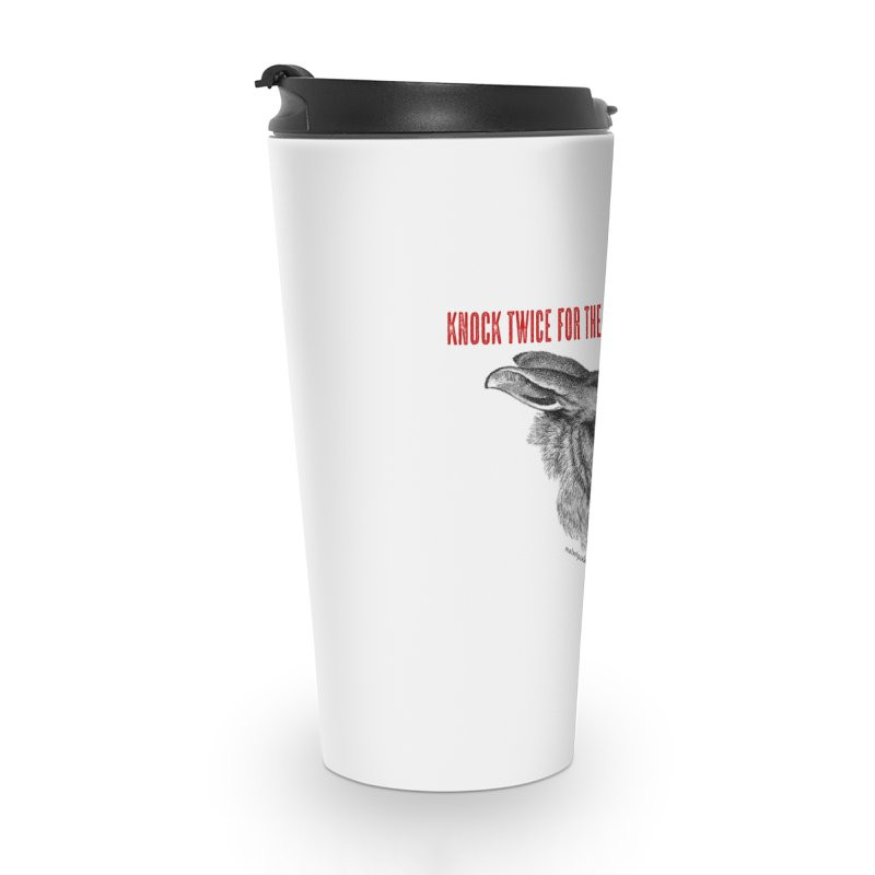 Hare of the Moon (white) Accessories Travel Mug by mabelpodcast's Artist Shop
