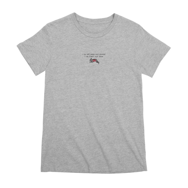 Moon & Mirror (white) Women's Premium T-Shirt by mabelpodcast's Artist Shop