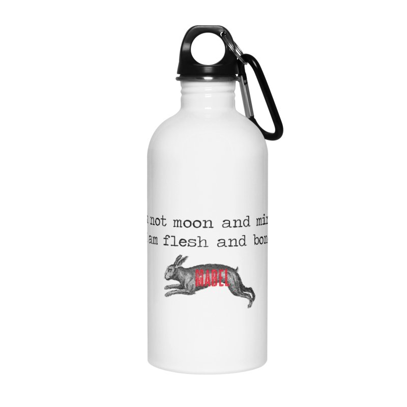 Moon & Mirror (white) Accessories Water Bottle by mabelpodcast's Artist Shop