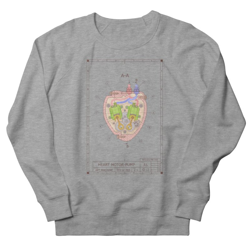 HEART MOTOR PUMP technical drawing Men's Sweatshirt by ART MACHINE technical drawing