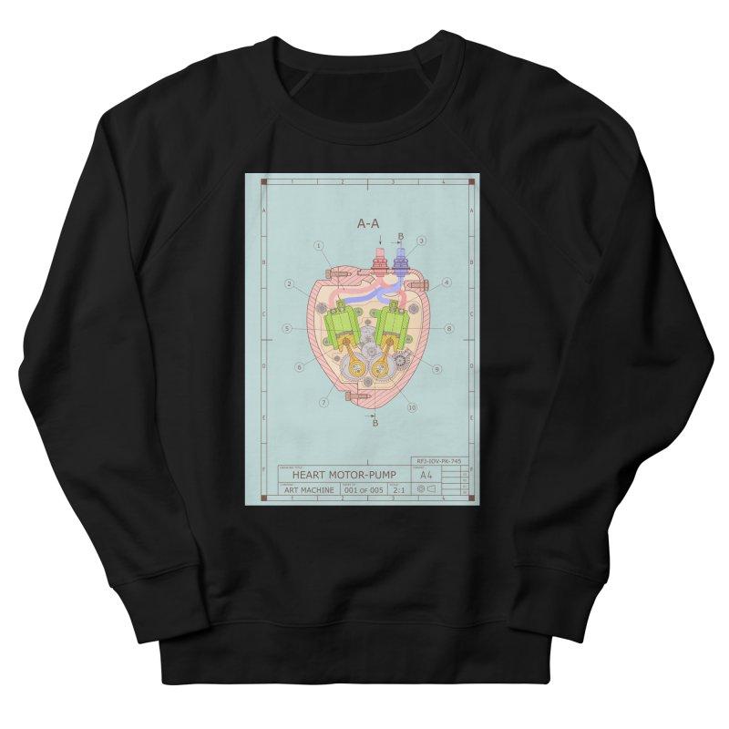 HEART MOTOR PUMP technical drawing Men's Sweatshirt by ART MACHINE technical drawing