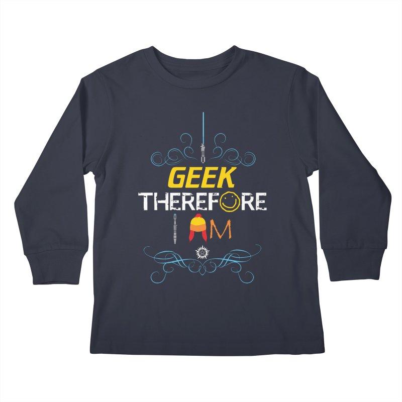 I Geek Two Kids Longsleeve T-Shirt by machmigo1's Artist Shop