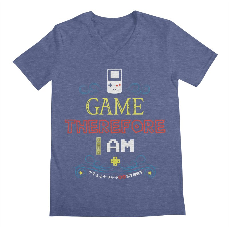 I Game Men's V-Neck by machmigo1's Artist Shop