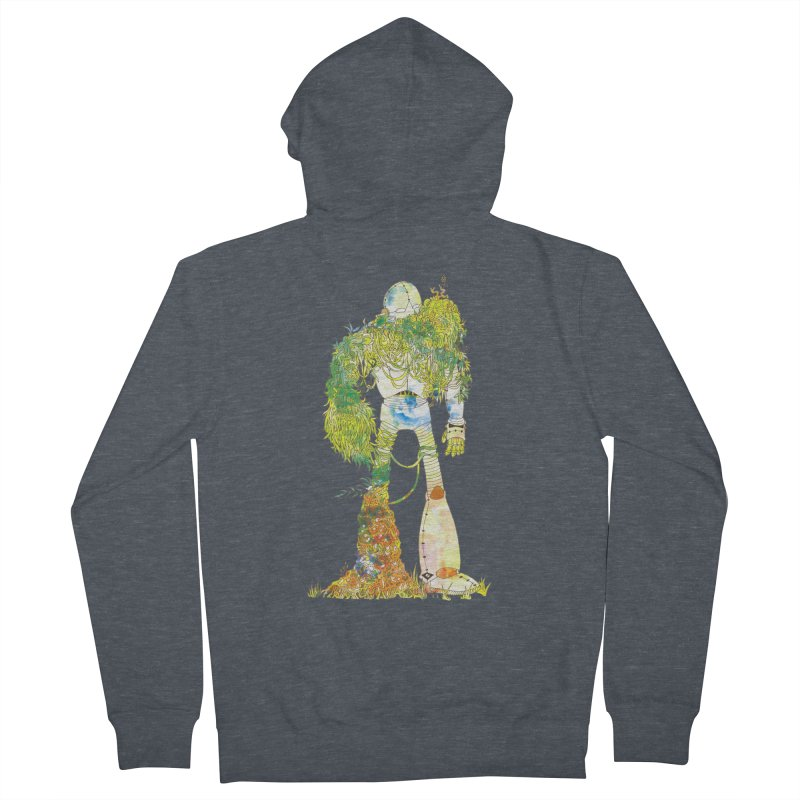No More Machines Men's French Terry Zip-Up Hoody by machmigo1's Artist Shop