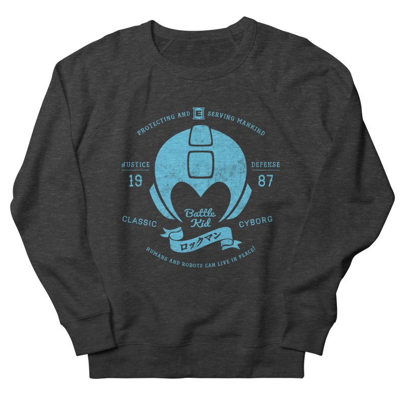 Battle Kid Men's French Terry Sweatshirt by machmigo1's Artist Shop