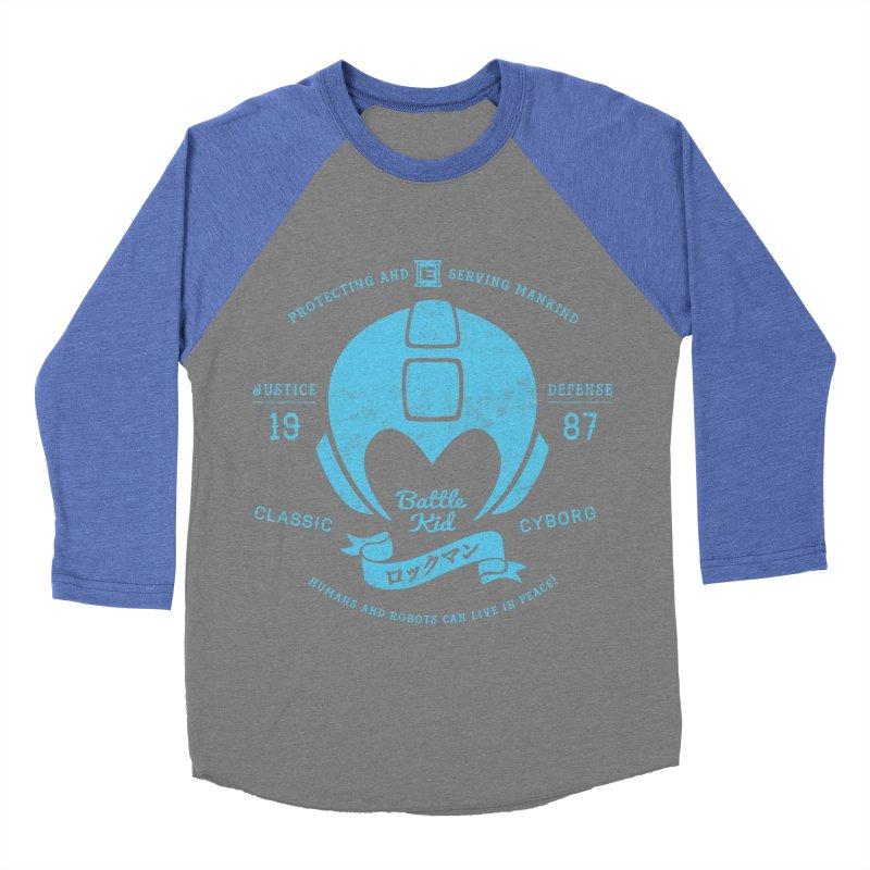 Battle Kid Men's Baseball Triblend Longsleeve T-Shirt by machmigo1's Artist Shop
