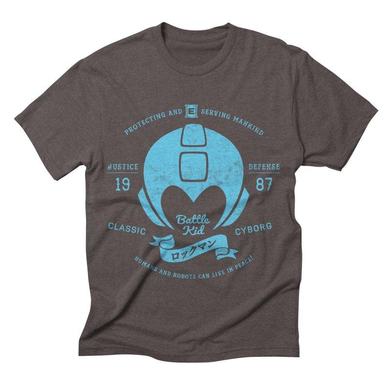 Battle Kid Men's Triblend T-shirt by machmigo1's Artist Shop