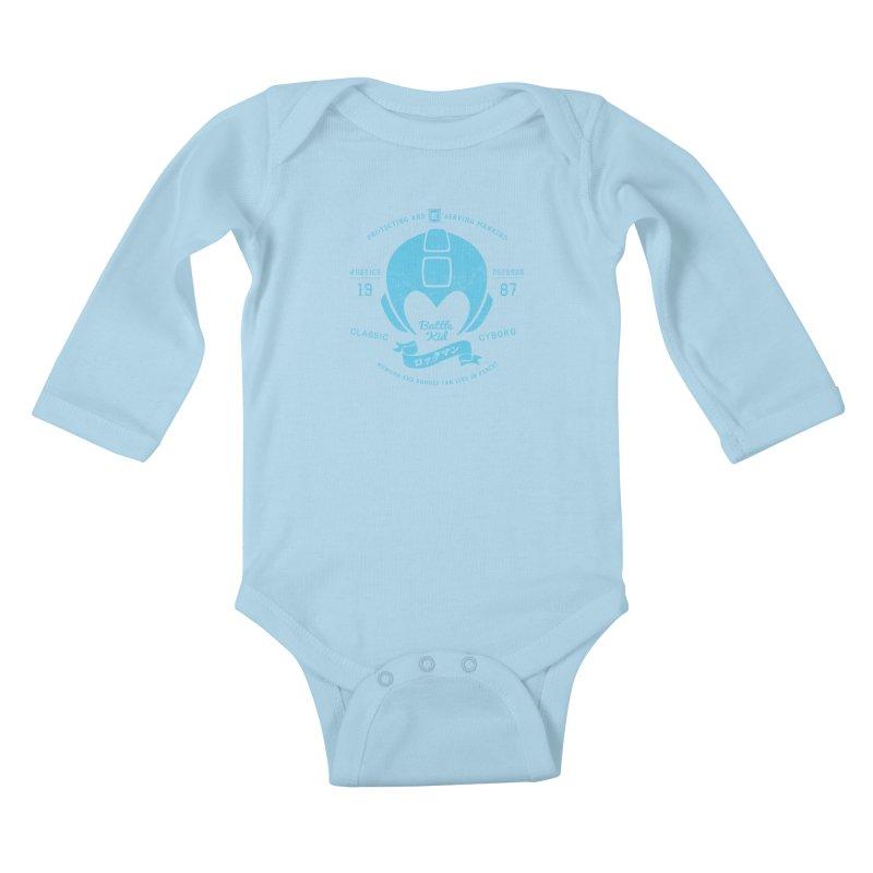 Battle Kid Kids Baby Longsleeve Bodysuit by machmigo1's Artist Shop