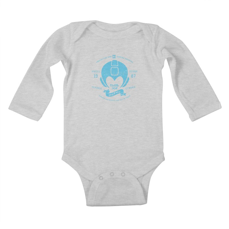 Battle Kid Kids Baby Longsleeve Bodysuit by machmigo1's Artist Shop