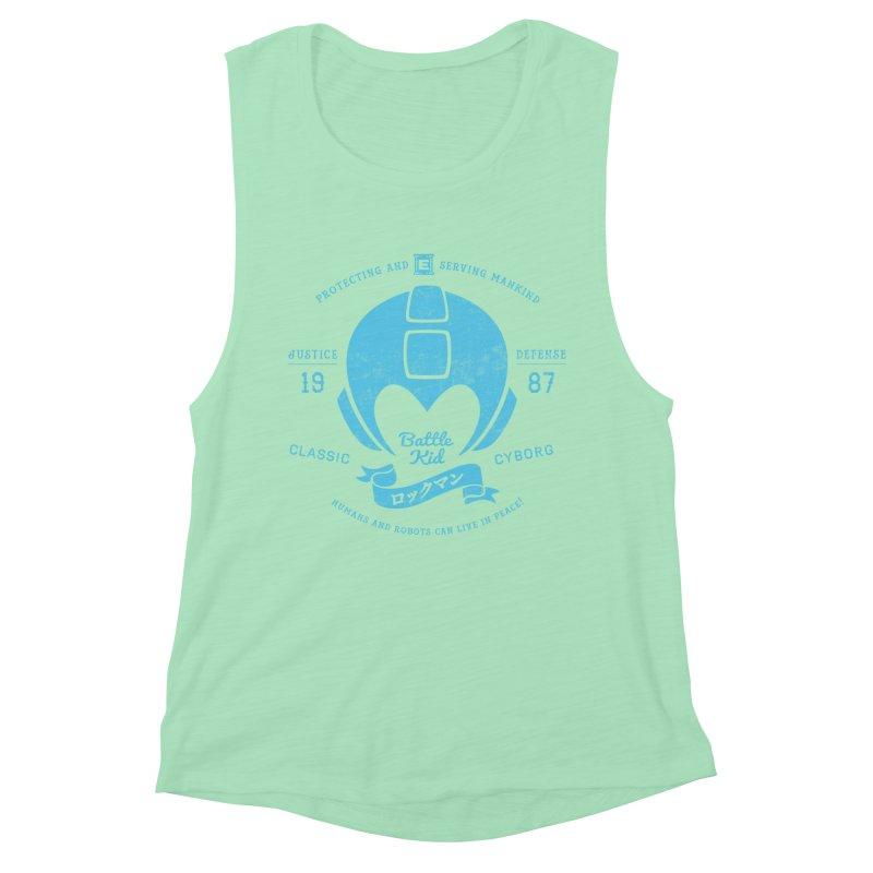 Battle Kid Women's Muscle Tank by machmigo1's Artist Shop