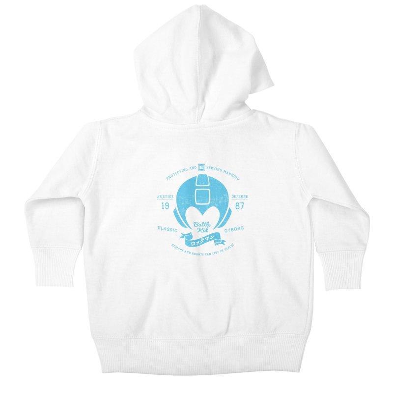 Battle Kid Kids Baby Zip-Up Hoody by machmigo1's Artist Shop