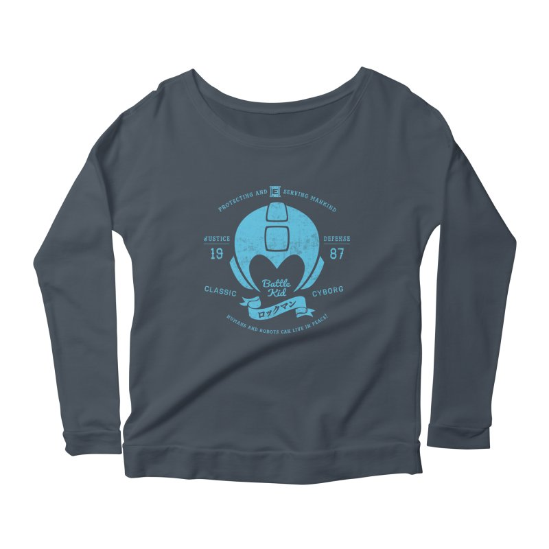 Battle Kid Women's Scoop Neck Longsleeve T-Shirt by machmigo1's Artist Shop