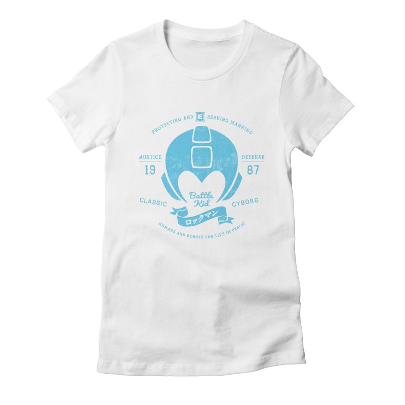 Battle Kid Women's Fitted T-Shirt by machmigo1's Artist Shop