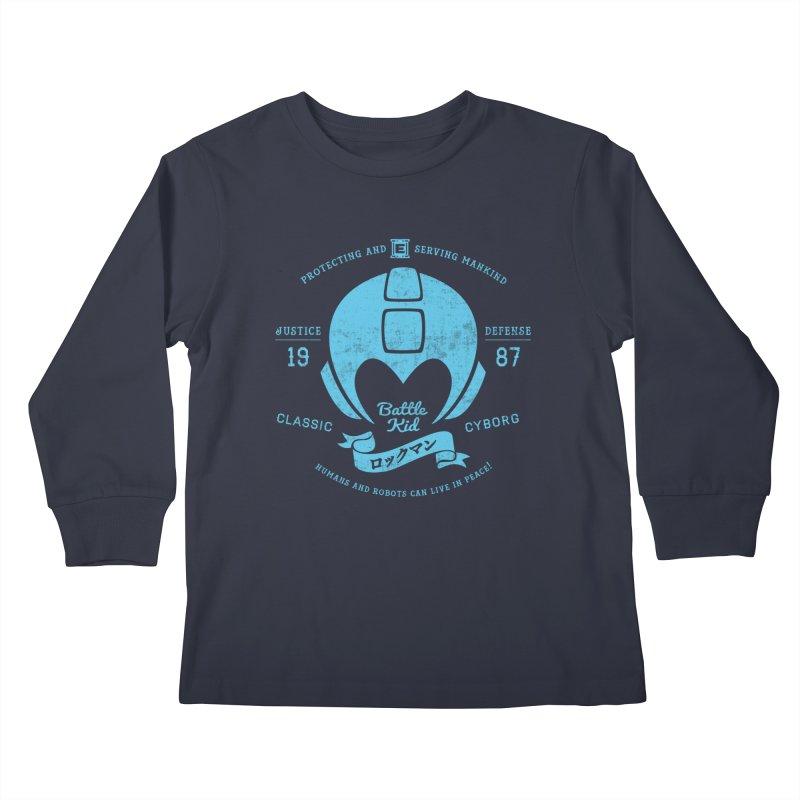 Battle Kid Kids Longsleeve T-Shirt by machmigo1's Artist Shop