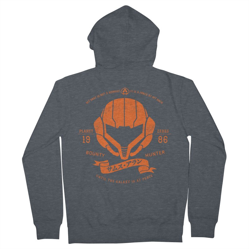 Orange Armor Women's French Terry Zip-Up Hoody by machmigo1's Artist Shop