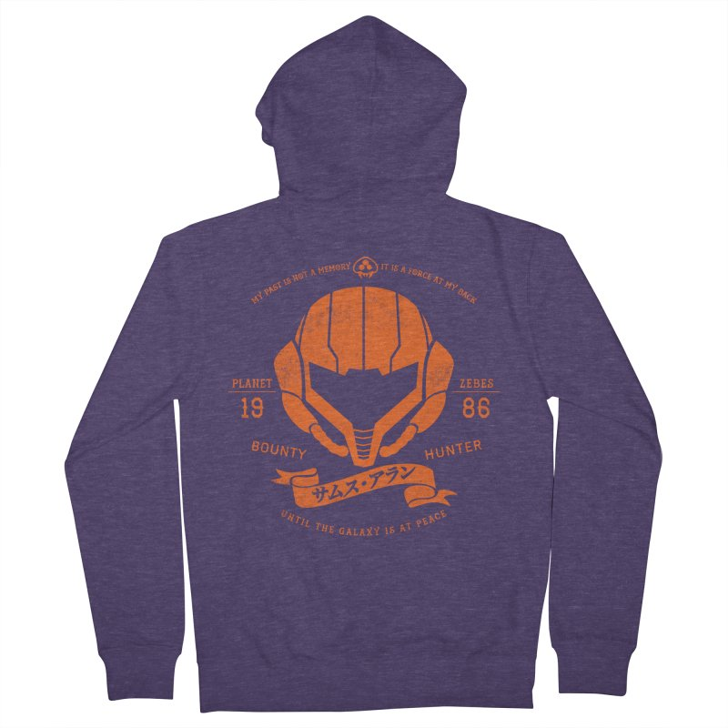 Orange Armor Men's Zip-Up Hoody by machmigo1's Artist Shop
