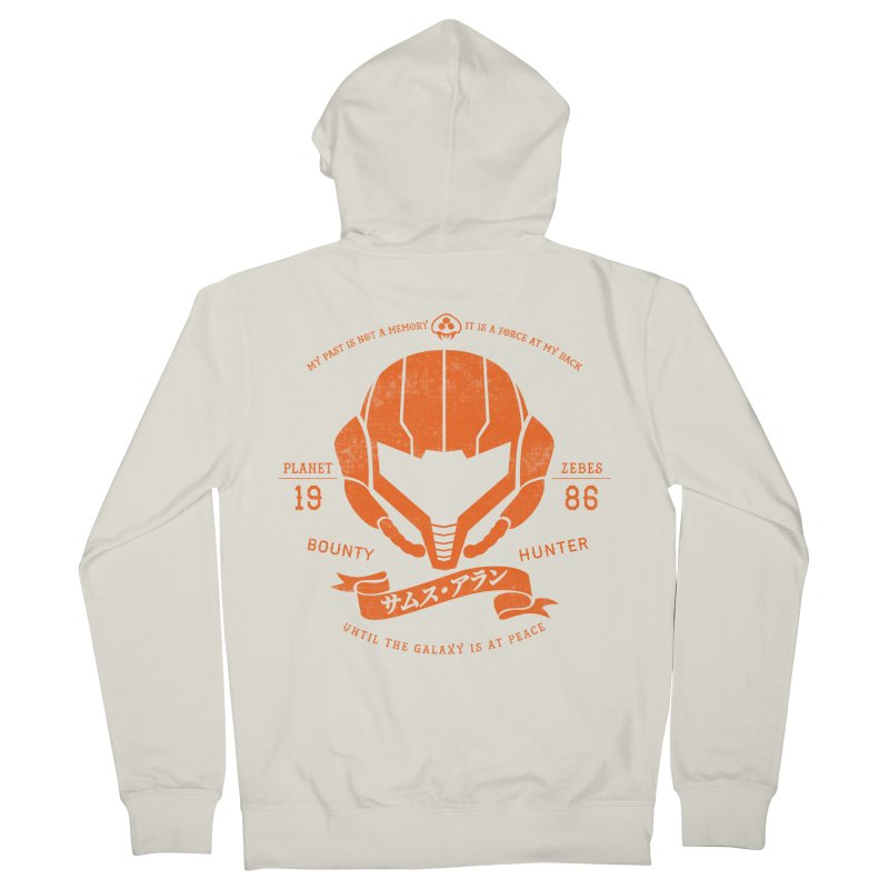 Orange Armor Men's French Terry Zip-Up Hoody by machmigo1's Artist Shop